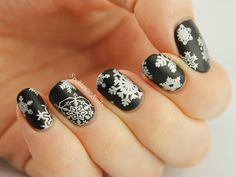 Silver Snowflakes with MoYou London Christmas Collection 02
