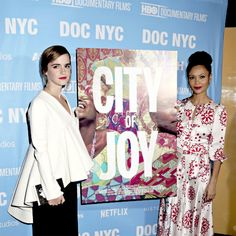 "Emma Watson attends and Thandie Newton ""City of Joy"" premiere in New York City on November 11, 2016."