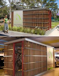 Public bike storage with changing room and shower!