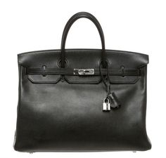 Exquisite Hermes Birkin 40 featured in Black. Browse our full collection! #baghunter