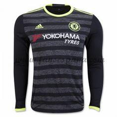 Camisetas De Futbol Chelsea Segunda Equipación Manga Larga 2016-17 Camiseta  Chelsea 9fd149ff1ea51