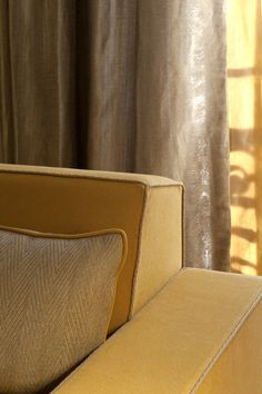 Shades Of Yellow, Stores, Showroom, Decoration, Ottoman, Design Inspiration, Curtains, Simple, Gold