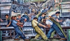 """Diego Rivera's """"Battle of Detroit"""" 