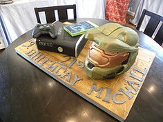 HALO and PS3 Birthday Cake