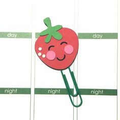 Kawaii Strawberry Paper Clip // Planner Clip // Bookmark // Erin Condren // EC // Kikki K // Filofax // Plum Paper Planner // Inkwell Press by CuteByDesignCo on Etsy