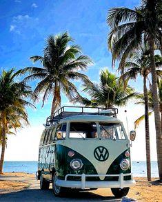 Beach Aesthetic, Summer Aesthetic, Vw T1 Samba, Wolkswagen Van, Vw Caravan, Vw Beach, Photo Polaroid, Vw Camping, Kombi Home