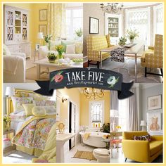 Take 5:  Decorating with Yellow