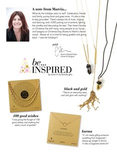 I love Gold!!!#dogeared #sharethehappy SNEAK PEEK! be...Dogeared HOLIDAY GIFT GUIDE 2013:  be... Inspired  {click to shop}