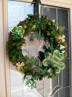 St Patrick's Day WreathBe Lucky4 tiny swarovski by BareVintage, $89.00