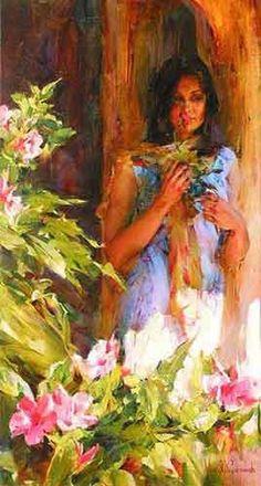 "Peinture Originale ""Missing My Love"" by Michael and Inessa  Garmash"