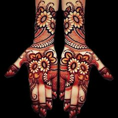 Henna Design Only Palm Images Gallery - Top Henna Design Only Palm Pictures for Girl with Cute Design. Best henna design images collection for Girl Mehndi Designs For Girls, Mehndi Designs For Beginners, Modern Mehndi Designs, Dulhan Mehndi Designs, Mehndi Design Pictures, Wedding Mehndi Designs, Mehndi Designs For Fingers, Beautiful Henna Designs, Latest Mehndi Designs