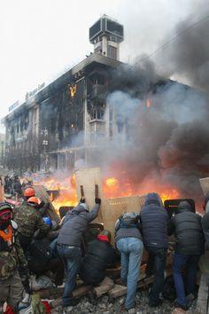 Institutskaya street - Kyiv - Ukraine - February 2014
