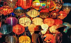 Two Person Standing Near Assorted Color Paper Lanterns Color Palette. Arts And Crafts For Adults, Easy Arts And Crafts, Crafts For Girls, Arts And Crafts Projects, Vaporwave, Red Night Light, Art And Craft Videos, Arts And Crafts Movement, Design Your Home