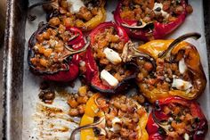 Ottolenghi's recipe for stuffed peppers with fondant swede and goat's cheese