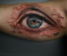 Eyes Tattoos and body art and Realistic eye on Pinterest