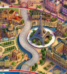 ArtStation - Paris, France (Wheel of Fortune), FOX3D ENTERTAINMENT