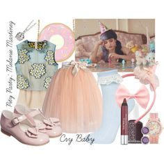 Pity Party: Melanie Martinez by curioser-and-curioser on Polyvore featuring RED Valentino, Chicwish, Topshop, Aéropostale, Muru, Judith Ripka, Trish McEvoy and Essie