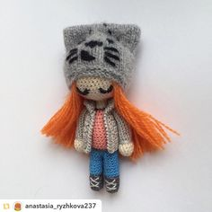 Repost from @anastasia_ryzhkova237:Идея @mint.bunny #weamiguru #amigurumi #knitting #handmade #handmadetoys #вязанаяигрушка #вязание #вязаниекрючком #амигуруми #куклакрючком #куколка by villy_vanilly_shop