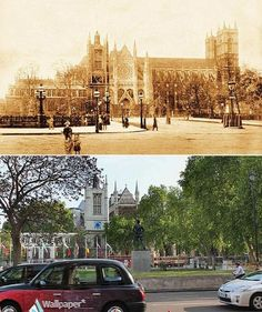 Parliament Square and Westminster Abbey: London in 1897 and Now