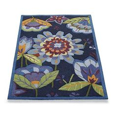 Hand-hooked Garden Indoor Area Rug...and it is being delivered TODAY!