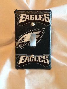 Philadelphia Eagles Light Switch Cover by grannyharper on Etsy