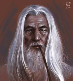 The Art Of Roberto Campus : Fantasy Art Gallery : Sketches : White Wizard Fantasy Wizard, Fantasy Witch, Dark Fantasy, Fantasy Art, Old Men With Tattoos, Merlin The Magician, Male Witch, Drawing Heads, Great Works Of Art