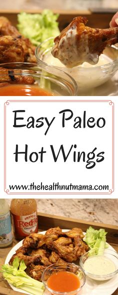 Easy Paleo Hot Wings. So easy, you'll wonder why you haven't been making them all along! www.thehealthnutmama.com