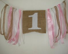 pink gold 1 st birthday decorations/ 1st birthday by GingerFeast
