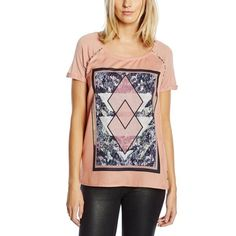 Scotch & Soda. Maison Scotch Women's Photo-Printed Short Sleeve Tee. Pink. Size 4 Fits like a Medium/Large. 100% Modal. Imported. Hand Wash. Embroidered silky front. Photo front print design. A silky feel quality short sleeve in a photo printed pattern design Scotch & Soda Tops Tees - Short Sleeve