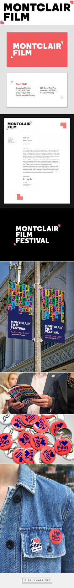 Brand New: New Logo and Identity for Montclair Film by Hieronymus. - a grouped images picture - Pin Them All Letterhead Design, Resume Design, Brand Identity Design, Corporate Design, Branding Design, Corporate Identity, Graphic Design Books, Graphic Design Typography, Book Cover Design