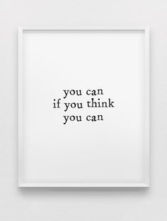 you can if you think you can print // motivational by spellandtell