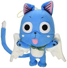"""Great Eastern GE-6968 Animation Official Fairy Tail Anime Happy 8"""" Plush"""