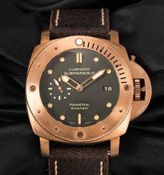 """Дубликаты часов Officine Panerai - Часы """"Luminor Submersible 1950 Automatic Bronzo"""" от Officine Panerai модель № 683.504"""