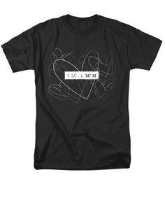 Tshirts - I love mom word art T-Shirt by Kathleen Wong