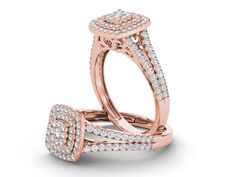 Details about  /Birthday Gift 14K Rose Gold 0.24ct I//I3 IGI Certified Real Natural Diamonds Ring