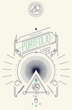 Awesome Portfolio Cover using line design and typography // Mi Universo by…