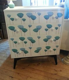 Revamped drawers by Hausmartyns Handpainted and decopage design.