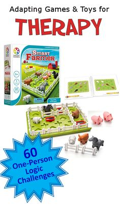 Smart Farmer - A logic game with 60 challenges. Smart Farmer is a farm-themed game/puzzle with 60 challenges that increa. Occupational Therapist, Physical Therapist, Therapy Games, Speech Therapy, Logic Games, Visual Memory, Farm Theme, Activities To Do, Special Needs