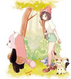 New PKMN (Kiteruguma & MIMIKKYU) fanart by hyomoww : pokemon