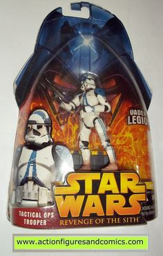star wars action figures CLONE TROOPER TACTICAL OPS blue 2005 revenge of the sith hasbro toys moc mip mib