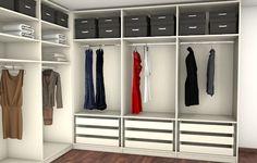 Ankleideraum als begehbarer Kleiderschrank
