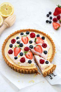 Pie Dessert, Cookie Desserts, Dessert Recipes, Yellow Foods, Fruit Pie, Swedish Recipes, Key Lime Pie, Sweet Cakes, Sweet Tooth