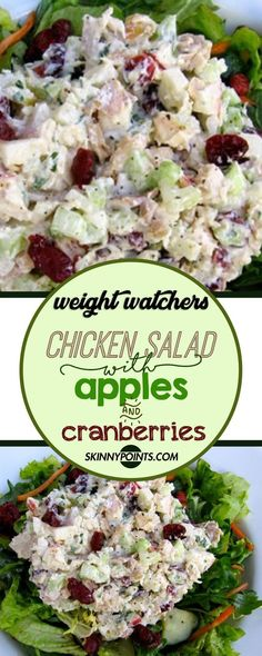 Chicken salad with apples and cranberries weight_watchers chicken salad apple cranberries 795237246680036575 Chicken Salad With Apples, Chicken Salad Recipes, Healthy Chicken, Low Calorie Chicken Salad Recipe, Chicken Salad Sandwiches, Chicken Wraps, Apple Chicken Salads, Chicken Pasta, Chicken Salad Wraps
