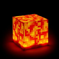 This Minecraft Lava Lamp is a lot different than the lava lamps that were so popular during the and That's because this mood lamp is fashioned Minecraft Room Decor, Minecraft Bedroom, Minecraft Toys, Minecraft Crafts, Minecraft Ideas, Minecraft Furniture, Minecraft Skins, Mood Light, Night Light
