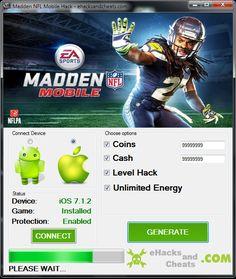 Hack and Keygen: Madden NFL Mobile Hack