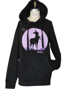 Please note, this is a PREORDER style. Processing will take 1-2 weeks. THE SCOOP: The Last Unicorn hoodie features our hand-drawn rendition of The Last Unicorns classic winsome pose juxtaposed against