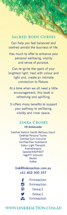 Inspiration  & guidance to thrive in wellness for radiant living. http://www.linkreaction.com.au