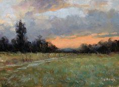 Crépuscule - Huile sur Panneau - 20 x 15 cm