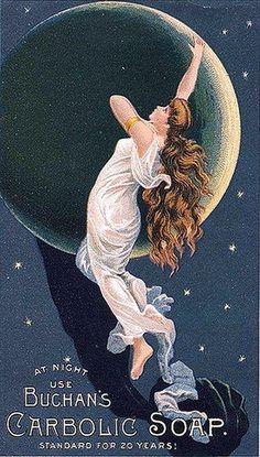 La luna ❤ #vintage #brand #advertising