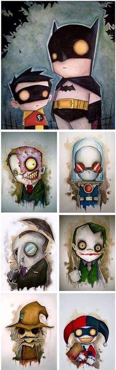 Batman & Robin + The Villains